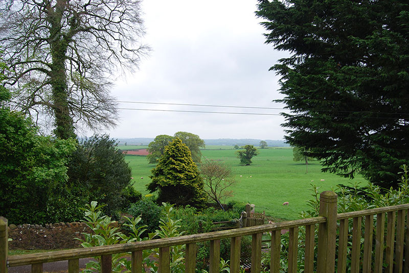 This pitch had superb views over the rolling Devon Countryside